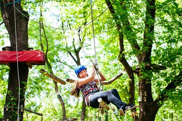 Aktivita Horský lanový park Tarzanie